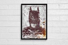 THE DARK KNIGHT RISES MOVIE MINIMAL FRAMED ART POSTER Batman Merchandise, Batman Poster, Online Posters, The Dark Knight Rises, Framed Art, The Darkest, Minimal, Movie, Artist