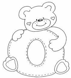 Risultati immagini per moldes del abecedario infantil Alphabet Templates, Applique Templates, Applique Patterns, Quilt Patterns, Colouring Pics, Coloring Books, Coloring Letters, Embroidery Alphabet, Sewing Appliques