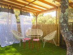 Le Mobil-home Zénith a une nouvelle terrasse...en mode intimiste.