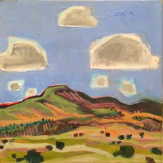 Ghost Ranch View by Annie O'Brien Gonzales Oil ~ 12 x 12