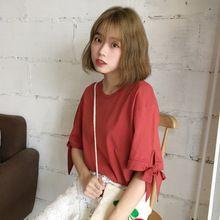 Mihoshop Ulzzang Korean Korea Women Fashion Clothing Short Sleeve T-shirt loose Tops Base Pure //FREE Shipping Worldwide //