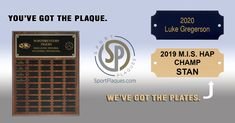 Award Plaques, Sports Awards, Nameplate, Banquet, Things To Come, Student, School, Board, Address Signs