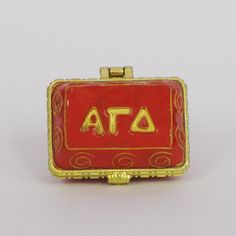 Alpha Gamma Delta 24k Gold Plated Officially by KittyKellerDesigns, $26.00