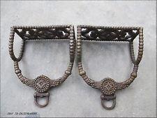 Good luck old copper Bronze Coin Bi money dragon saddle iron pedal horse Stirrup