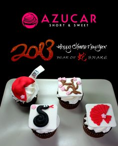 Chinese New Year Cupcake!! 2013 Year of the Snake!  www.gotazucar.com