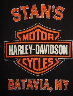 Vintage 95 Harley Davidson Pocket Polo Shirt Size L Large Stans Batavia New York #HarleyDavidson #PoloRugby