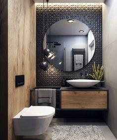 Small Bathroom Interior, Bathroom Design Luxury, Modern Bathroom Design, Master Bathroom, Home Room Design, Home Interior Design, Wc Design, Guest Toilet, Bathroom Inspiration
