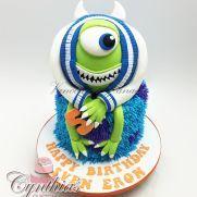 Monsters Inc. cake Monster Inc Cakes, Disney Cakes, Monsters Inc, Love Cake, Cake Toppers, Cake Decorating, Birthday Cake, Desserts, Cookies