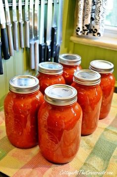 Homemade Canned Spaghetti Sauce Homemade Spaghetti Sauce used July Judging by my husbands expression and sigh after tasting it, I am going to say it is heavenly lol. Canning Homemade Spaghetti Sauce, Homemade Sauce, Tomato Sauce Canning, Tomato Canning Recipes, Tomatoe Sauce, Homade Pasta Sauce, Homemade Speghetti Sauce, Pasta Sauce Canning Recipe, Canning Tomatoes Water Bath