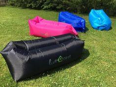 shopandcare - Air Sofa mit Getränke - und Handyhalter - wasserdichte, aufblasbare Liege für Garten, Camping, Park, Strand, Swimmbad usw. Indoor + Outdoor