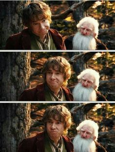 Bilbo a.k.a. Martin Freeman has the best facial expressions.