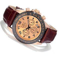 607-807 - Invicta Men's Speedway Quartz Chronograph Sunray Dial Strap Watch
