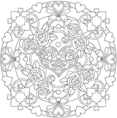 Welcome to Dover Publications sample from coloring book with hearts