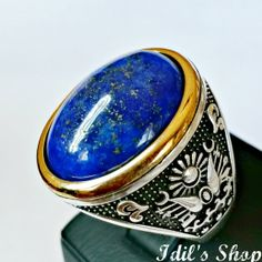 Men's Ring Turkish Ottoman Style Jewelry 925 Sterling by IdilsShop, $135.00