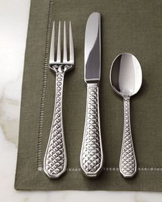"Five-Piece ""Coco"" Flatware Place Setting by Reed & Barton at Horchow."