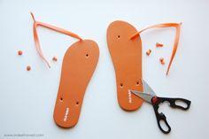 camp flip flop making idea
