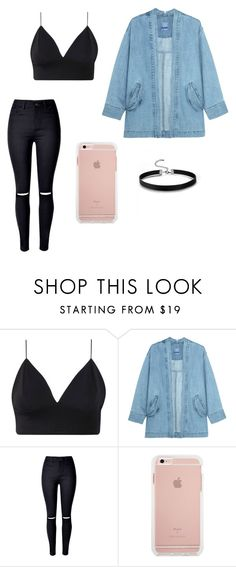 """""""american apparel"""" by haydenmustdie ❤ liked on Polyvore featuring Steve J & Yoni P and WithChic"""