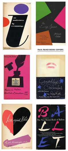 Paul Rand Covers  Pure design goodness. They don't make them like this anymore.   < taste > pop / / retro  / simple / bold /   < media material >   poster /  < layout > layoutで分類した後にさらに分類   < colour > colourで分類した後にさらに分類   < shape > geometric /   < decoration > 分類した後にさらに分類