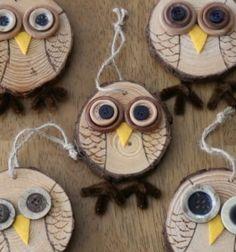 Autumn owl decor from wood slices - fall owl tree // Őszi bagoly díszek farönk szeletekből - bagolyfa //  Mindy -  creative craft ideas //  #diy #csináldmagad #kreatívötletek #fall #autumn #craftideas #crafts