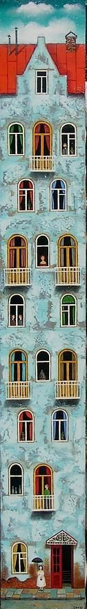 OLD LVOV (UKRAINE) by David Martiashvili (b1978 Tbilisi, GEORGIA)