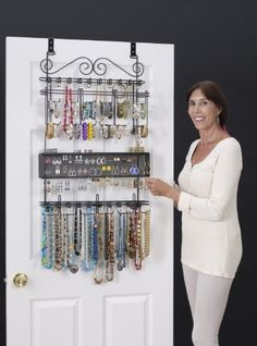 New! Overdoor Wall Longstem Jewelry Organizer Valet in Black - Holds over 300 pieces! Unique patented product - Rated Best! Longstem http://www.amazon.com/dp/B00EA3MTWU/ref=cm_sw_r_pi_dp_bCF7vb1ESYT10