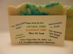 Handmade Natural Pure ELEPHANT FART BAR Soap SINUS RELIEF