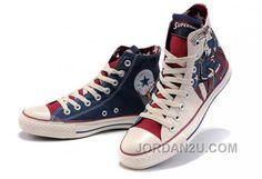 d6e69ec630e2c0 Converse All Star High Tops Superman Printed Blue Beige Canvas Shoes Sale  Converse