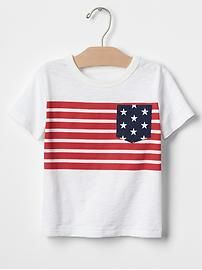 American flag pocket tee