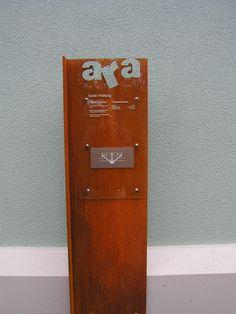 Signaletik in der Kläranlage ARA Wil-SG