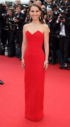 Portman makes for a perfect Lady Dior in red. - MarieClaire.com