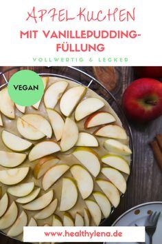 Kein Herbst ohne Apfelkuchen – so viel ist sicher. Heute habe ich nicht die klassische Version, sondern ein besonderes Rezept für dich dabei. Ich präsentiere dir hier einen zimtigen Apfelkuchen mit Vanillepudding-Füllung: cremig, saftig und unglaublich lecker: vegan, ohne Soja, vollwertig, ohne Zucker und gesünder.