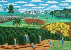 Edgar Calhado. Cena rural,  50x70cm