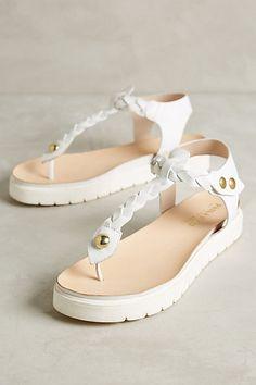 Alba Moda Braided T-Strap Thongs  anthropologie Low Heel Shoes, High Heels, 41c58d73ef