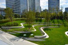 Place-making : Public park Landscape Steps, Landscape And Urbanism, Landscape Elements, Park Landscape, Landscape Concept, Landscape Architecture Design, Landscape Walls, Green Landscape, Modern Landscaping