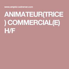 ANIMATEUR(TRICE) COMMERCIAL(E) H/F