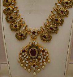 antique peackok necklace