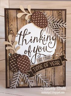 AEstamps a Latte. Stampin' Up! Christmas pretty pines