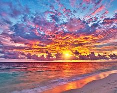 Best Sunset, Ocean Sunset, Beautiful Sunset, Ocean Waves, Beach Pictures, Nature Pictures, Sunset Pictures, Sunset Wallpaper, Wallpaper Murals
