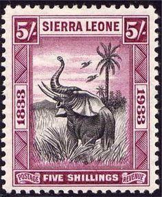 Sierra Leone five shilling stamp