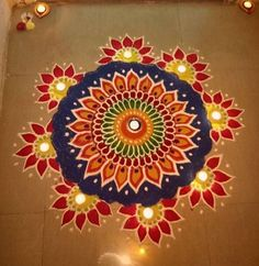 Latest Rangoli Designs for Diwali Browse over Ideas & Images on rangoli design for Diwali festival. Diwali is never complete without rangoli colours. Rangoli Designs Simple Diwali, Best Rangoli Design, Rangoli Simple, Indian Rangoli Designs, Rangoli Designs Latest, Rangoli Designs Flower, Small Rangoli Design, Rangoli Ideas, Rangoli Designs With Dots