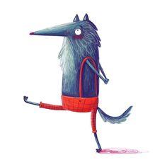 Leading Illustration & Publishing Agency based in London, New York & Marbella. Wolf Illustration, Character Illustration, Graphic Illustration, Wolf Kids, Wolf Children, Wolf Character, Character Design, Wolf Artwork, Storyboard