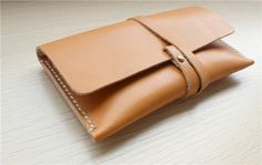 Leather Accessory Bag Leather Clutch Leather by SoBag1989 on Etsy, $24.00