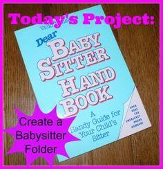 Create+a+Babysitter+Folder+http://thesurvivalmom.com/action-step-create-babysitter-folder/