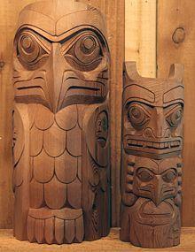 Eagle Totem Native Art American Haida Inuit