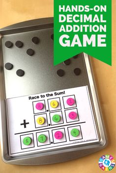This FREE hands-on game that gets students practicing decimal addition while using higher order thinking skills!