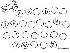 Printable missing letter worksheet from Making Learning Fun.