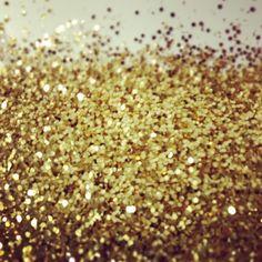 Shower of gold glitter