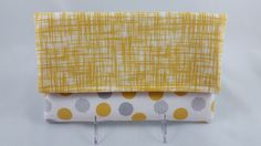 Gray and Yellow Fabric Foldover Clutch - Handbag - Purse by DemiChicDesign on Etsy https://www.etsy.com/listing/242219776/gray-and-yellow-fabric-foldover-clutch
