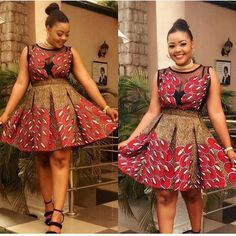 African clothing styles - short red African print dress,red ankara midi dress,african women gown,african clothing for women,an – African clothing styles Ankara Short Gown Styles, Trendy Ankara Styles, Short Gowns, Short Styles, Dress Styles, African Fashion Ankara, African Print Fashion, Africa Fashion, African Prints