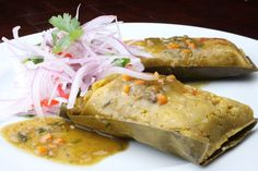 Tamales green .... Peruvian food.